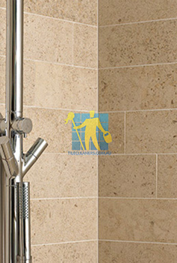 limestone tiles shower moleanos beige Perth cleaning