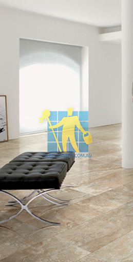 modern living room with textured rectangular porcelain tiles on floor Ardross