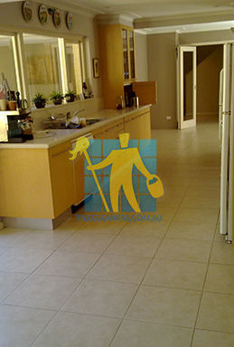porcelain tiles floor inside furnished home after cleaning kitchen floors Ardross