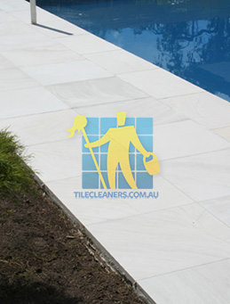 outdoor sandstone tile pool paving snow white West Swan