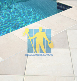 outdoor sandstone tile pool snow white West Swan